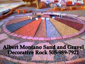 Gravel Showcase Display 3 Albert Montano Sand and Gravel Santa fe NM SHOWCASE PIC